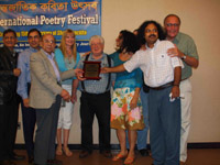 Shabdaguchha Lifetime Poetry Award, Reciving by Stanley H. Barkan
