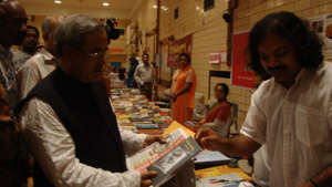 Cultural Minister and Hassanal Abdullah at the Book Fair